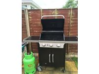 VERY CHEAP BLOOMA 3 BURNER BUTANE OR PROPANE GAS BARBECUE EXCELLENT CONDITION ONLY ONE YEAR OLD
