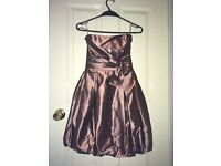 Prom/special occasion dress, size 8, worn once but was professionally dry cleaned after.