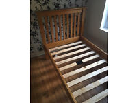 Quality Pinewood Single Bed Size Frame Only For Sale Good Condition No Mattress