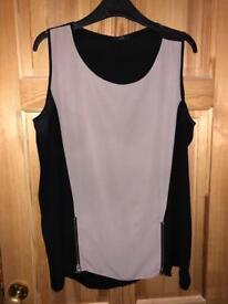 Size 18 black zip top