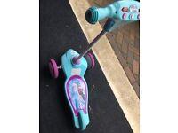 Frozen little girls scooter