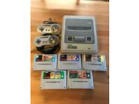 Classic Original SNES System 5 games and 2 controllers