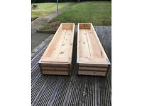 Long Solid Wooden Planters