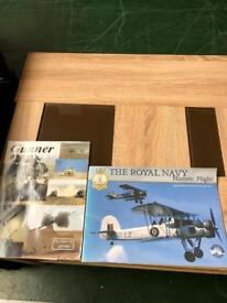 Two Royal Navy historic flight and gunner books
