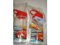 WATER DRINK BOTTLES *DISNEY PIXAR CARS*NEW IN PACKAGING x 2 BOTTLES**collect Chelsea, London**
