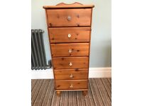 Tallboy chest of drawers wooden matching drawers on other listing glass handles