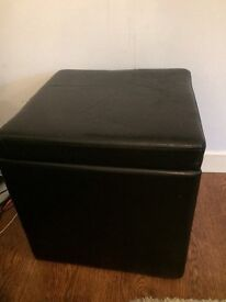 Next Dark brown storage cube