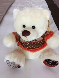 Cream Teddy with jumper by 'Paws'