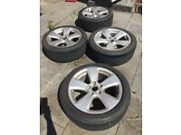 "Audi 17"" alloys with Dunlop tyres"
