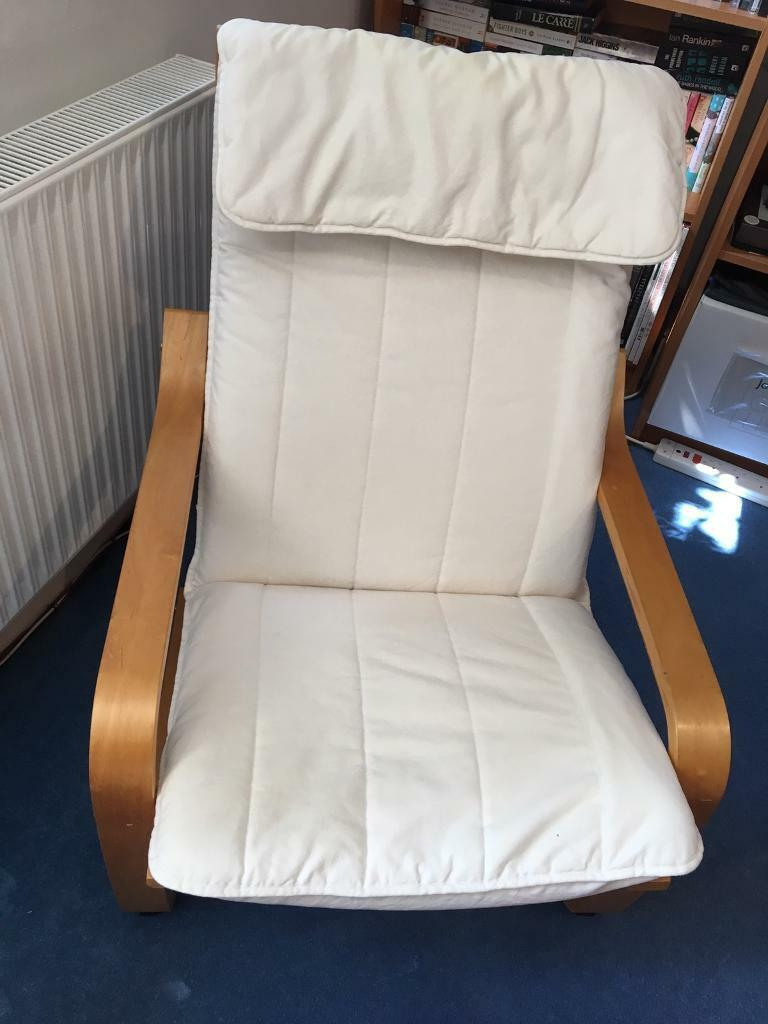 Brilliant Ikea Poang Chair And Footstool In Stoke Bishop Bristol Gumtree Machost Co Dining Chair Design Ideas Machostcouk