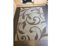 Rug taupe and cream £10