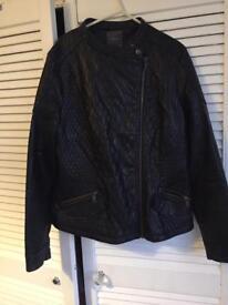 Ladies Size 16 faux leather jacket
