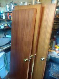 Interior doors, 3x vaneer panel 1 x glazed