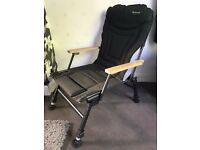 Mint Wychwood Extremis Wooden Arm Foldable Carp Fishing Chair Ultra Comfort