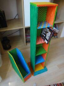 CD storage/rack/ magazine rack/magazine holder set/shelving unit/storage