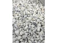 White Marble Chips / Gravel