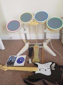Wii rockband complete set + game