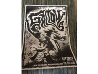 Signed gallows screen printed poster