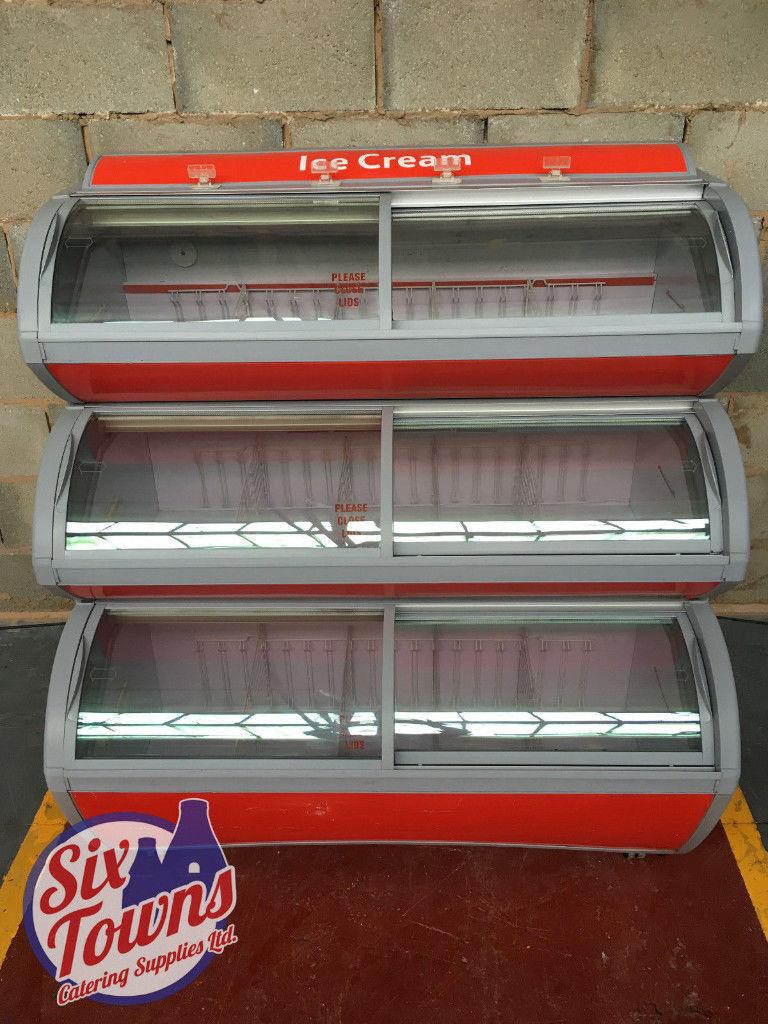Iarp Visimax II (2) Shop Ice Cream Display Freezer / 3 Tier / Frozen Food