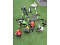 Strimmers, brush cutter and hedge cutter (job lot).