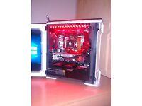 Custom Phanteks MATX Water cooled Desktop PC (i5-4690K, Z97, 16GB Ram, 480GB SSD 3TB Hard drive)