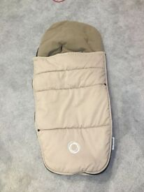 Bugaboo footmuff, sand. Good condition
