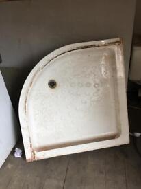 900mm corner shower tray