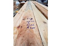 Scottish Larch Timber for sale 100mm X 22mm X 3.mt