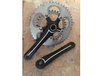 Mekk racing bike cranks 50t and 34t rings