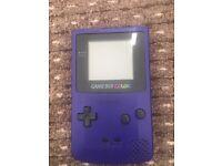 Gameboy colour purple