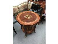 Round inlaid table