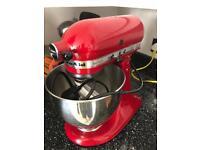 Kitchen Aid Artisan tilt head mixer RED (fault) 5KSM150ps