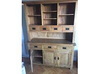 Original solid oak large dresser sideboard