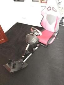 Racing chair with Xbox one steering wheel
