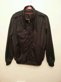 Man Black Rain coat size: Medium