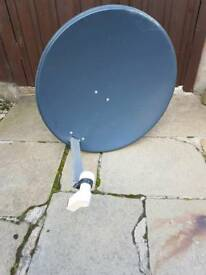 satellite dish 80cm plus converter