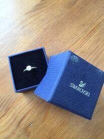 Swarovski Gold diamond ring in size 55