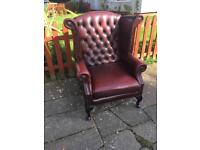 Queen chesterfield leather chair