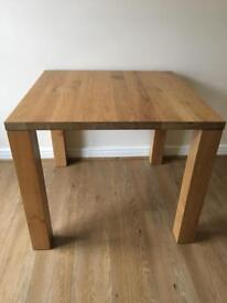 Ikea djursta oak table 90cmx90cm.