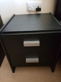 Wardrobe, chest of drawers and bedside table