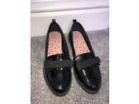 Ladies cute bow black pump shoes 4