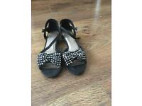 Sparkly kitten heeled sandals