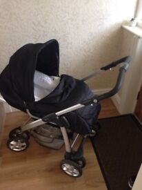 SILVER CROSS!TWO for ONE!Silvercross linear freeway pram with freeway chassis and elegance chassis