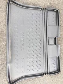 Genuine black Nissan Micra boot load liner protection mat.