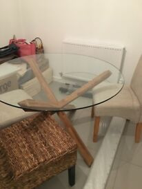 JYSK glass table and 4 chairs