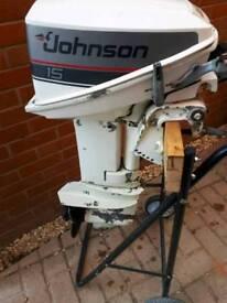 Johnson evinrude 15hp 2 stroke outboard