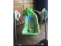 Fisher price baby rainforest swinging chair
