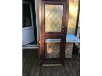 WOODGRAIN PVC-U STABLE DOOR WITH GLASS AND CILL