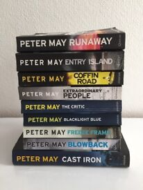 Peter May books x 9 VGC