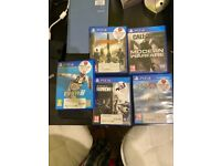 Playstation 4 (PS4)Pro 1TB with Fan Ventilation Stand, Controllers and 5 Games